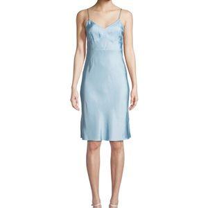 Baby blue slip dress